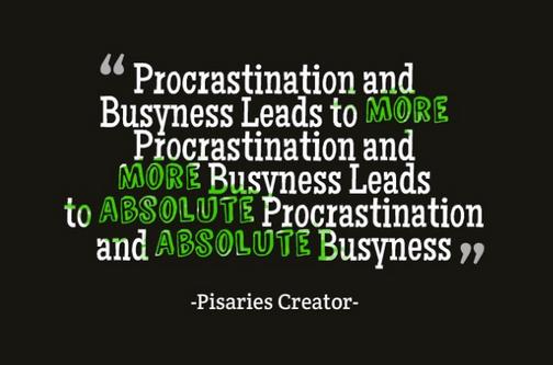 procrastinationbusyness