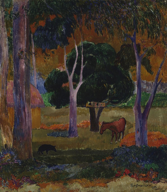 Landscape with a Pig and a Horse (Hiva Oa), 1903