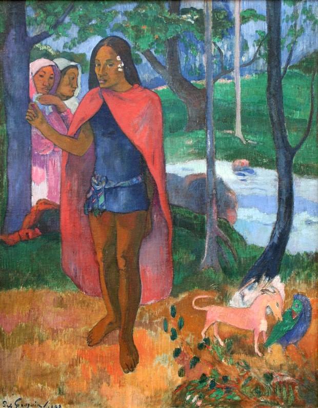 Le Sorcier d'Hiva Oa (Marquesan Man in a Red Cape), 1902,