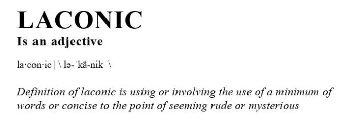 laconic